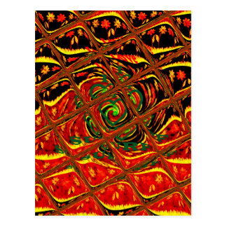 Golden red African Traditional Color.png Postcard