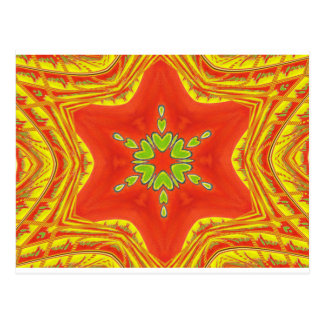 Golden red African Traditional colors Postcard