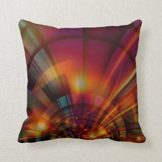 Golden Red Digital Art Deco Cushion