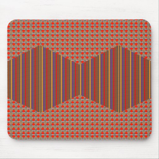 Golden RED DOTs n Colorful Elegant Stripes GIFTS Mouse Pads