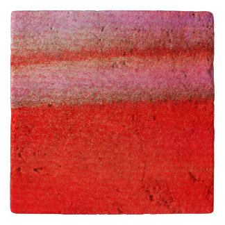 Golden Red Fun Travertine Stone Trivet