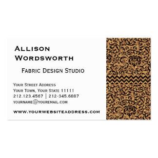 Golden Renaissance Tudor Gardens Damask Floral Pack Of Standard Business Cards
