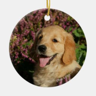 Golden Retreiver Puppy Christmas Ornament