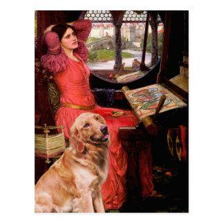 Golden Retriever 1 - Lady of Shalotte Postcard