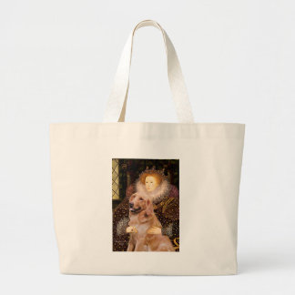 Golden Retriever #1 - Queen Elizabeth I Large Tote Bag