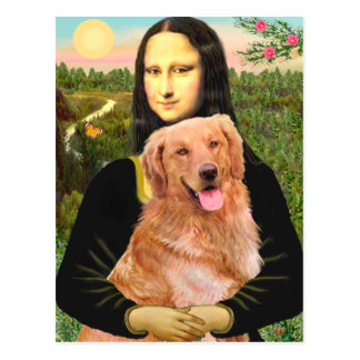 Golden Retriever 2 - Mona Lisa Postcard