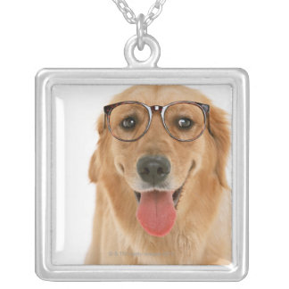 Golden Retriever 3 Silver Plated Necklace