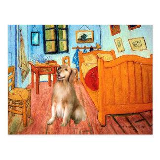 Golden Retriever 5 - Room at Arles Postcard