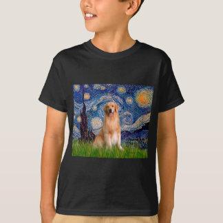Golden Retriever 8 - Starry Night T-Shirt