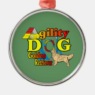 Golden Retriever Agility Christmas Ornament