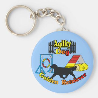 Golden Retriever Agility Dog Gifts Keychain