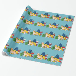 Golden Retriever Agility Dog Wrapping Paper