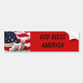 Golden Retriever America Bumper Sticker