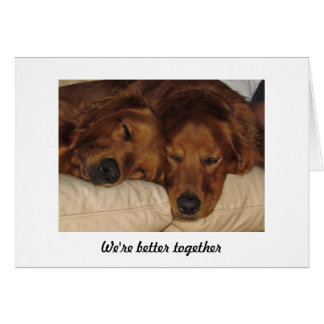 Golden Retriever Anniversary Card, Better Together Card