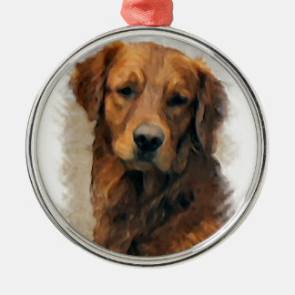 Golden Retriever Art Christmas Ornament