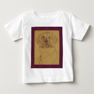 Golden Retriever art drawn from only the words Baby T-Shirt