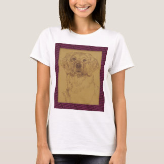 Golden Retriever art drawn from only the words T-Shirt