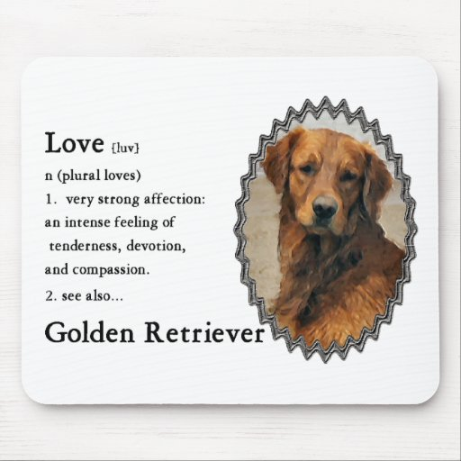 Golden Retriever Art Gifts Mouse Pad