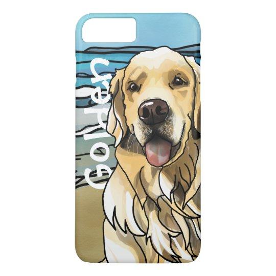 Golden Retriever at Beach (Add Pet Name) iPhone