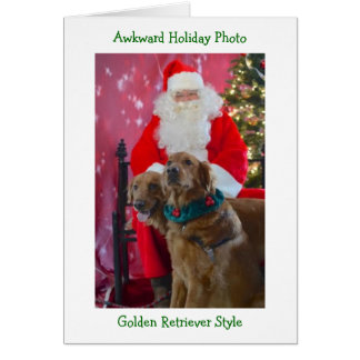 Golden Retriever Awkward Christmas Card