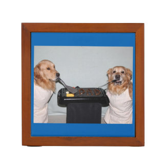 Golden Retriever Barbecue World's Best Dad Desk Organiser