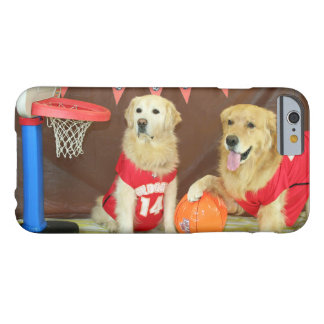 Golden Retriever Basketball Game Barely There iPhone 6 Case