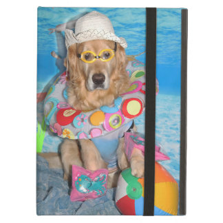 Golden Retriever Beach Bather iPad Air Covers