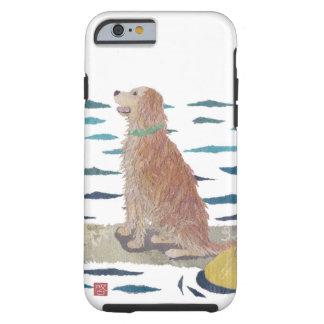 Golden Retriever, Beach Dog, Paddle Board Tough iPhone 6 Case