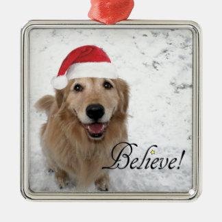 Golden Retriever Believe Christmas Christmas Ornament