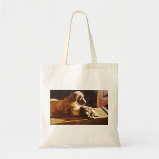 Golden Retriever Best Buddies Tote Bag