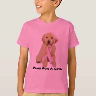 Golden Retriever Breast Cancer Kids T-Shirt