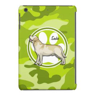 Golden Retriever bright green camo camouflage iPad Mini Cases