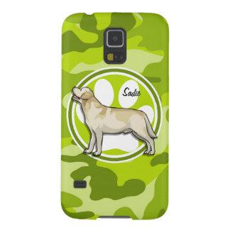 Golden Retriever bright green camo camouflage Galaxy S5 Covers