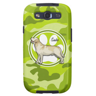 Golden Retriever bright green camo camouflage Galaxy SIII Covers