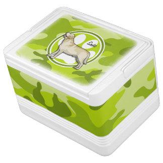 Golden Retriever bright green camo camouflage Igloo Can Cooler