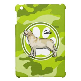 Golden Retriever bright green camo camouflage iPad Mini Cover