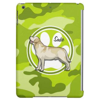 Golden Retriever bright green camo camouflage iPad Air Cover