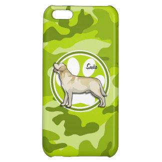 Golden Retriever bright green camo camouflage Case For iPhone 5C
