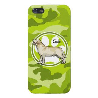 Golden Retriever bright green camo camouflage iPhone 5 Cases