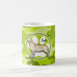 Golden Retriever bright green camo camouflage Coffee Mug