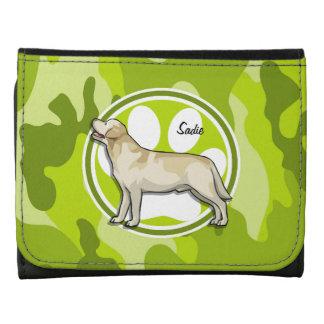 Golden Retriever bright green camo camouflage Wallets