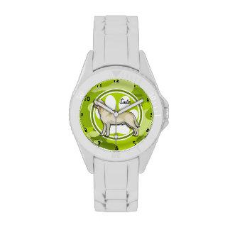 Golden Retriever bright green camo camouflage Watches