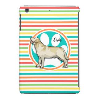 Golden Retriever Bright Rainbow Stripes iPad Mini Retina Case