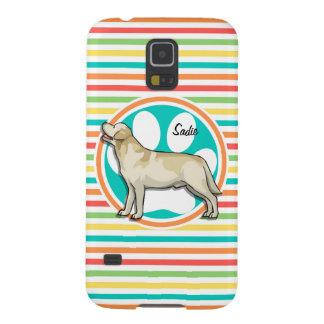 Golden Retriever Bright Rainbow Stripes Galaxy S5 Case