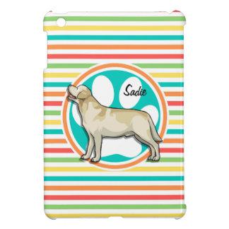 Golden Retriever Bright Rainbow Stripes Cover For The iPad Mini