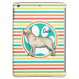 Golden Retriever Bright Rainbow Stripes iPad Air Covers