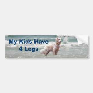 Golden Retriever Bumper Sticker My Kids Have 4Legs