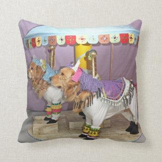 Golden Retriever Carousel Cushion