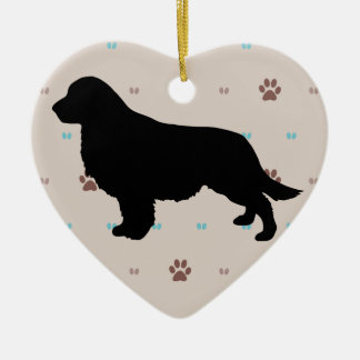 Golden Retriever Ceramic Heart Decoration
