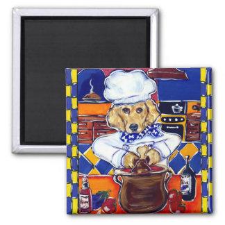 Golden Retriever Chef Refrigerator Magnets